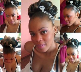Make up chignon