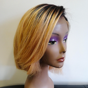 Perruque lace bob blond
